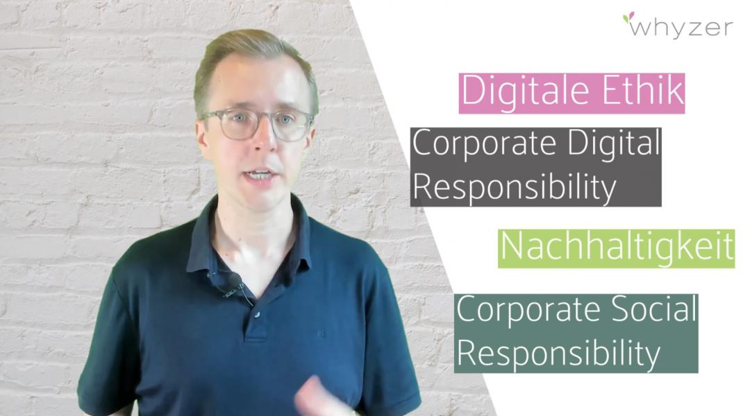 Wie Digitale Ethik, CDR, Nachhaltigkeit und CSR zueinadner stehen