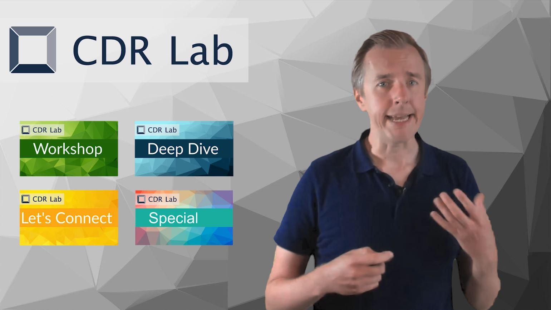 Bartosz Przybylek erläutert die CDR Lab Formate